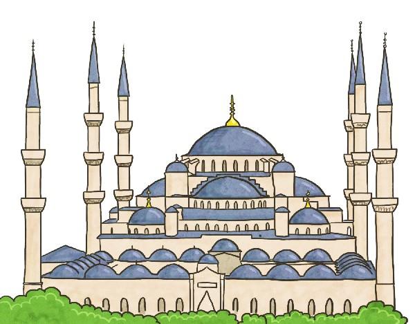 푸른 빛으로 감싸인 6개의 종탑