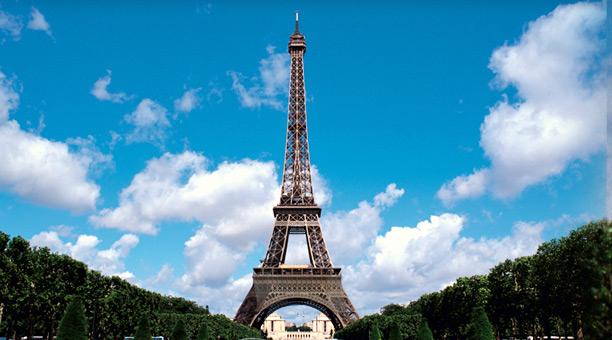 파리와의 강렬한 만남, 랜드마크 코스