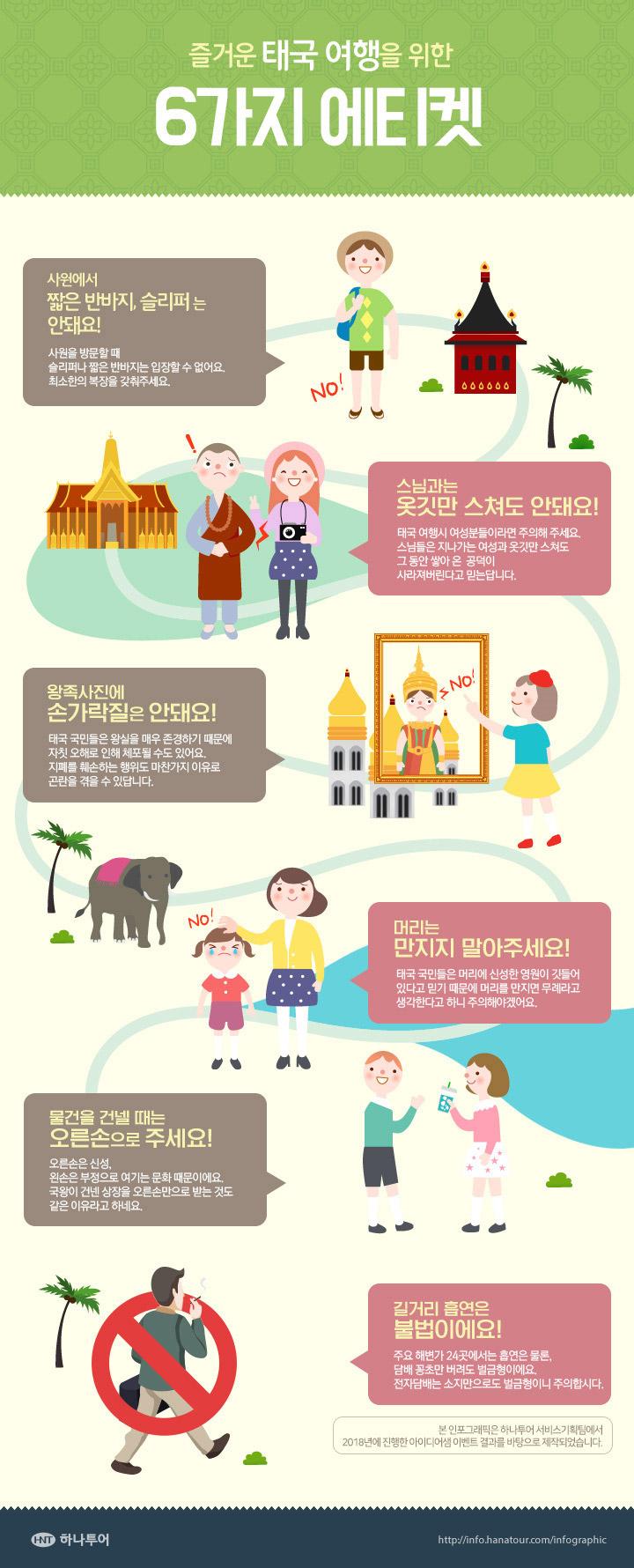 태국 여행 에티켓 6가지