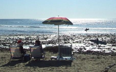 크리스마스 이브, 캘리포니아 해변의 추억!