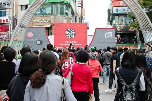 부산국제영화제가 열리고 있는 남포동 거리 풍경