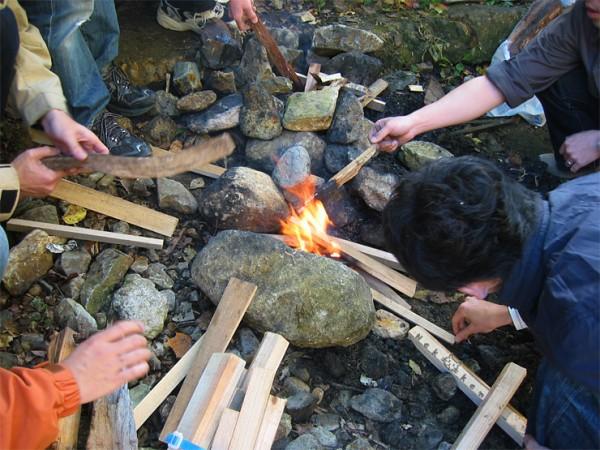 일본 단풍여행 #2 - 가을, 모닥불에 끓여먹는 이모니!
