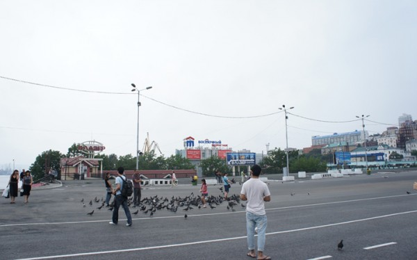 영화 '태풍' 촬영지, 러시아 블라디보스톡의 혁명광장