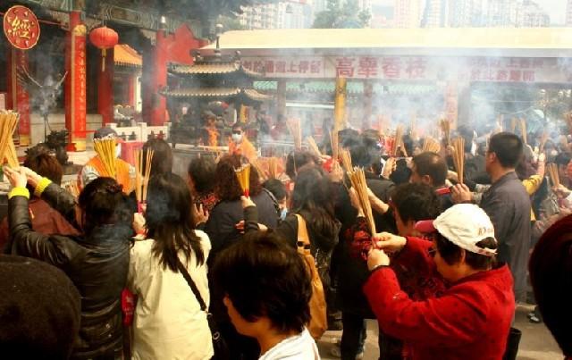 종교는 삶, 홍콩 웡타이신 사원