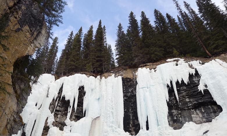 봄의 캐나다를 찾아 나서다, 존스턴 협곡 아이스워킹