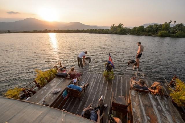 캄보디아 까엡 그리고 캄폿의 일몰