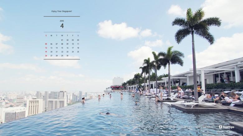 2015년 4월 바탕화면 달력-싱가포르