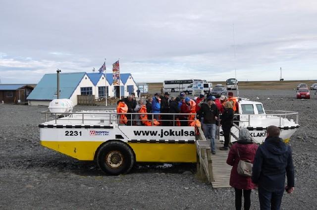 수륙양용보트로 누비는 빙하 라군, 아이슬란드 요쿨살론